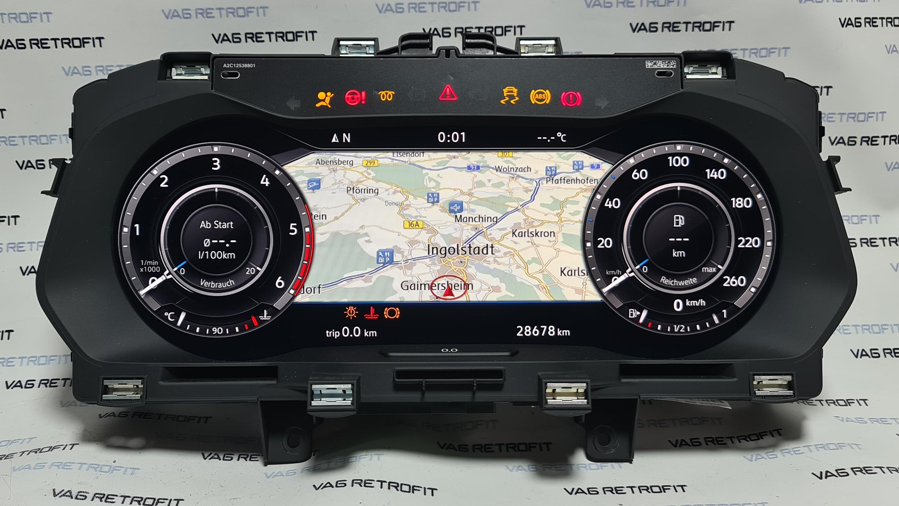 Poza 2 - Ceasuri Bord Digitale VW Tiguan Cockpit AID LED 5NA920791B 5NA 920 791 B