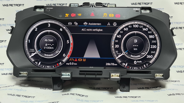 Poza 3 - Ceasuri Bord Digitale VW Tiguan Cockpit AID LED 5NA920791B 5NA 920 791 B