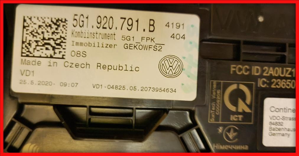 Poza 6 - Ceasuri Bord Golf 7 VII 5G1920791B 5G1 920 791 B Digitale Virtual Cockpit AID