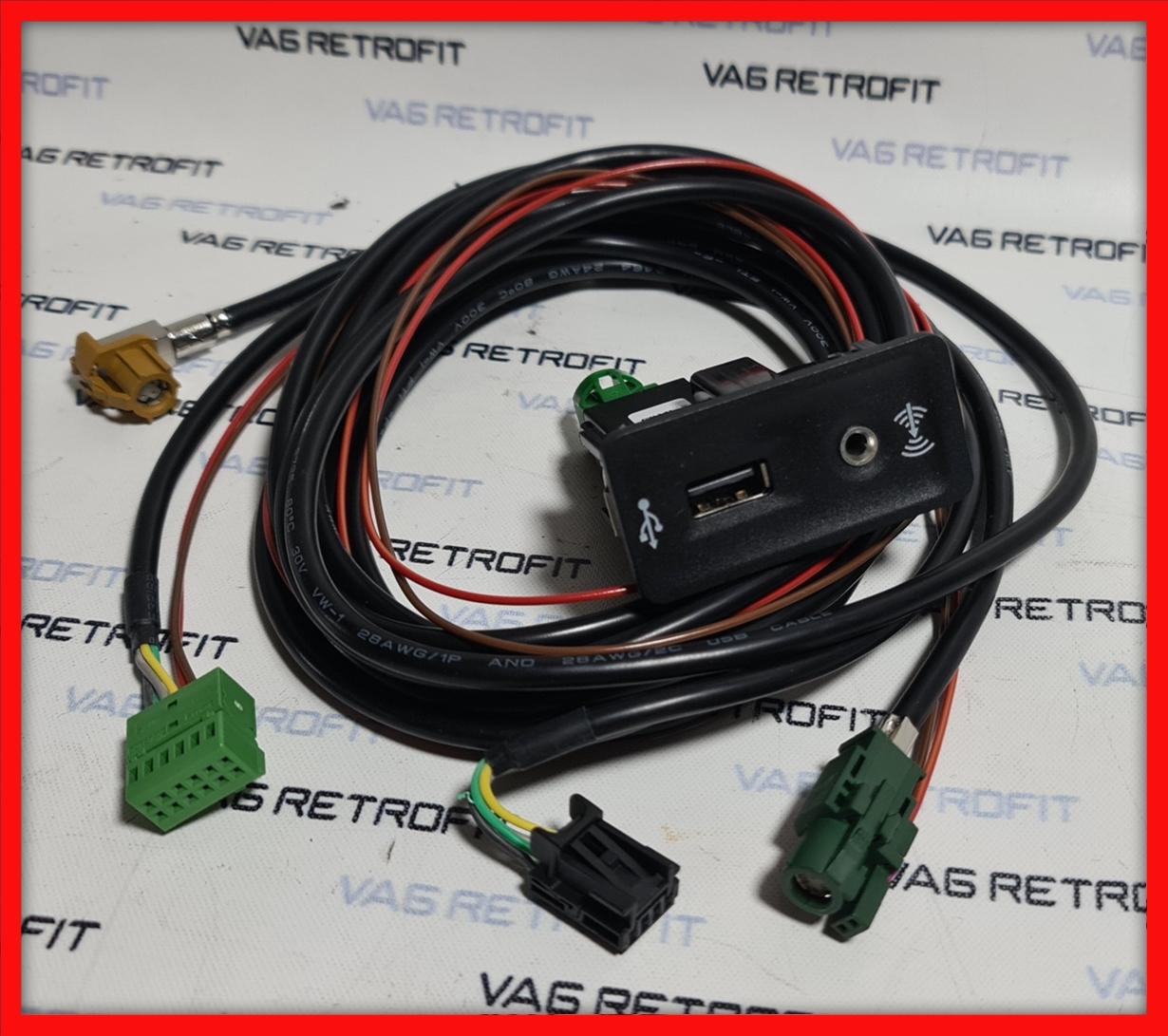 Poza 2 - Mufa USB Carplay App Connect MIB VW Golf 7 Passat B8 SKODA Cablaj