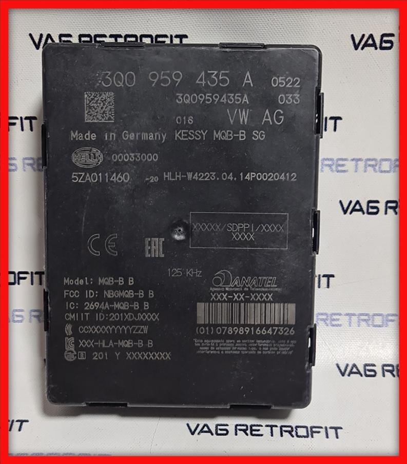 Poza - Modul / Unitate Keyless Go Kessy VW Passat B8 3Q0 959 435 A 3Q0959435A