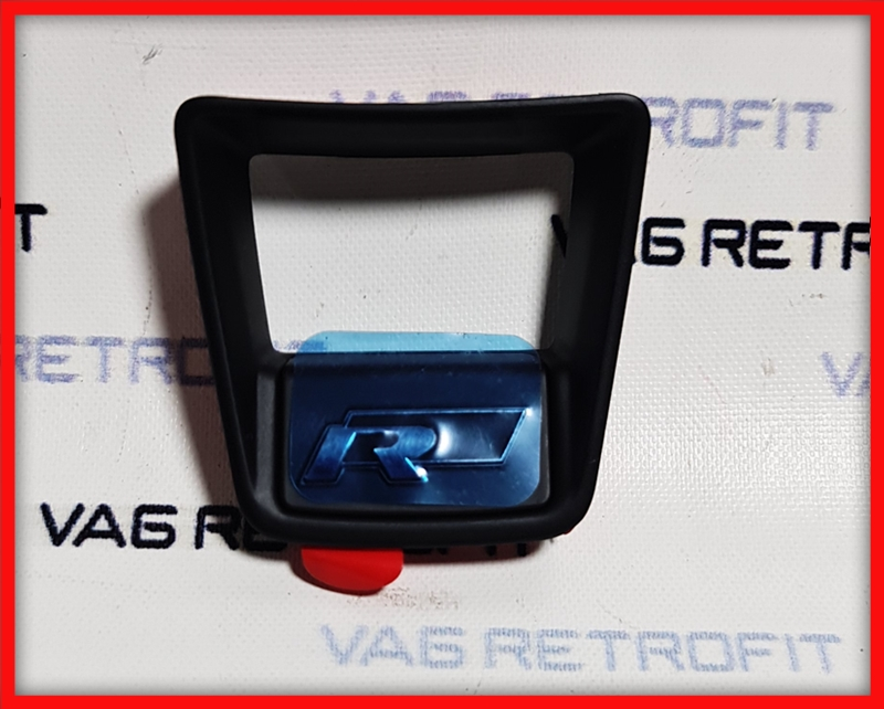 Poza - Emblema Volan Logo R Line BLACK VW Golf 7 VII Passat B8 Polo Tiguan