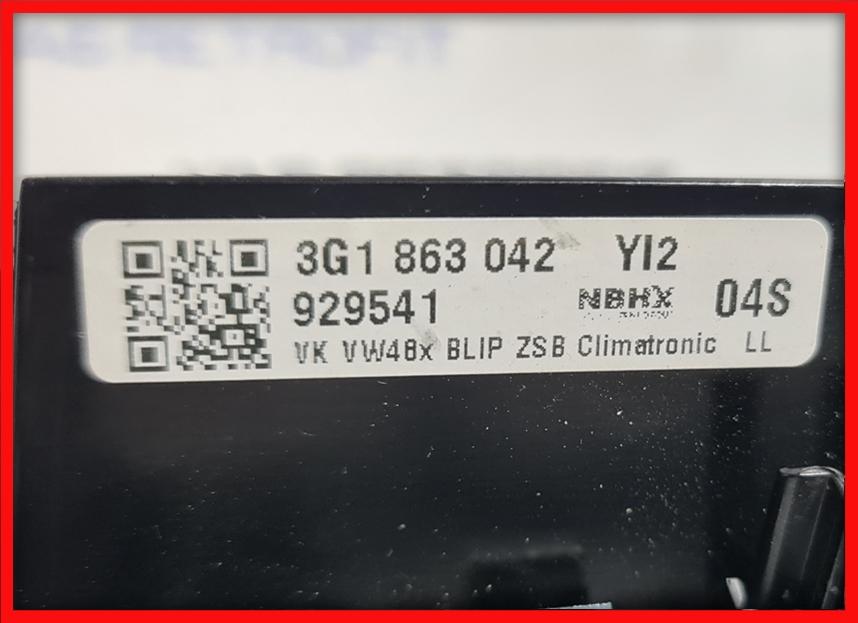 Poza 4 - Trim ornament rama climatronic Piano Black VW Passat B8 3G1863042