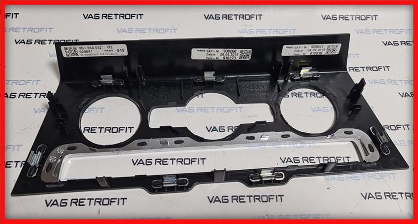 Poza 5 - Trim ornament rama climatronic Piano Black VW Passat B8 3G1863042
