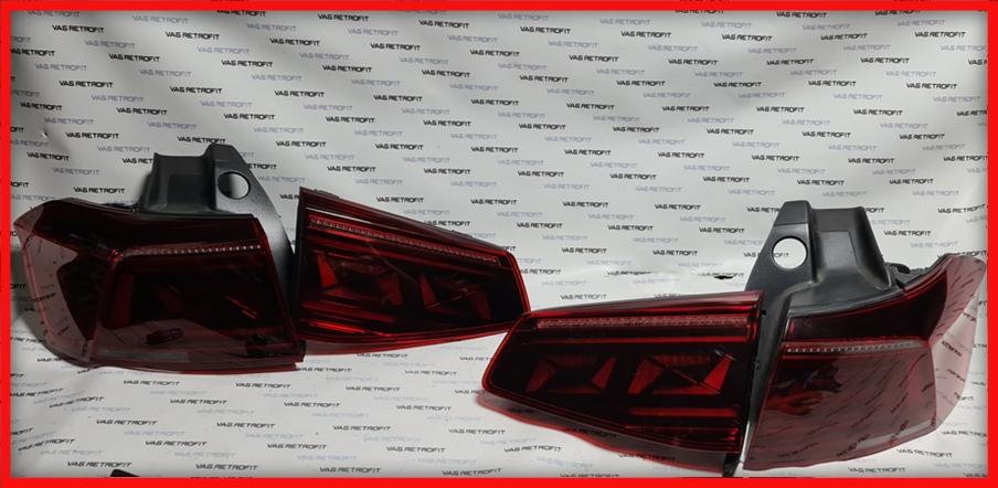 Poza - Stopuri LED VW Passat B8 Facelift Dark Cherry Originale Set Complet