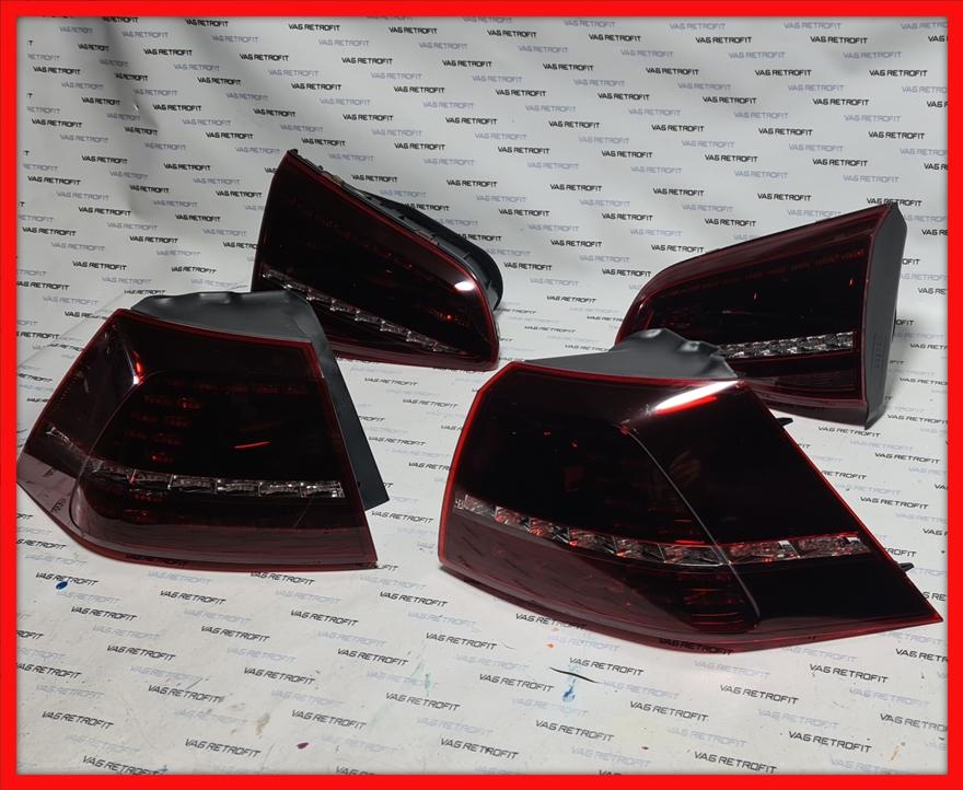Poza - Stopuri LED VW Golf 7 R Dark Cherry Originale Golf 7 R Set Complet