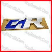 Poza - Inscriptie / Emblema R-LINE Aripa Fata Crom / Albastru