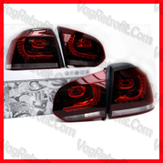 Poza - Set Stopuri LED VW Golf 6 VI Model R20 GTI GTD R Cu Leduri