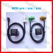 Poza - Buton si cablaj pentru media USB si AUX IN VW Golf 5 V, Golf 6 VI, VW Jetta EOS