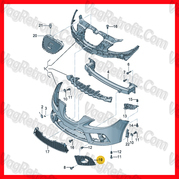 Poza 4 - Grila Proiector Stanga Seat Leon Cupra FR 1P 1P1