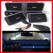 Poza - Grile Aer VW Passat  B6 , B7 , CC , Grile Ventilatie Cu Iluminare si Ornament CROM