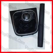 Poza - Maneta Schimbator viteze piele / Imbracaminte frana de mana piele VW Golf 5 , 6 Jetta EOS