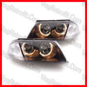 Poza - SET Faruri Passat 3BG B5.5 Angel Eyes Black 2001 - DEPO