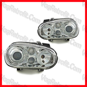 Poza - SET Faruri Lupa VW Golf 4 IV R32 LOOK Chrome DEPO